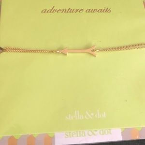 New Stella & Dot arrow wishing bracelet gold
